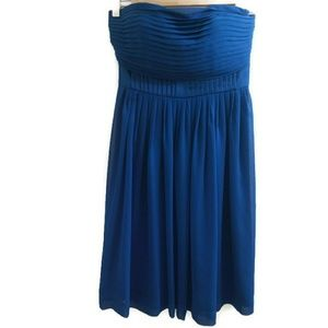 Max & Cleo Strapless Dress Peacock Blue Size 2